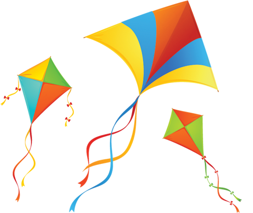 kites with clouds